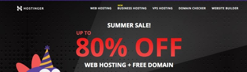 80% off on Hostinger