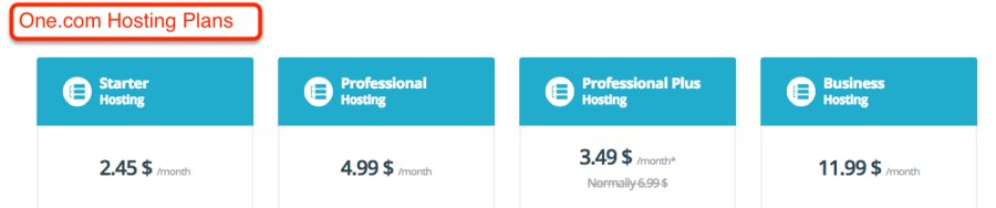 One.com hosting plans