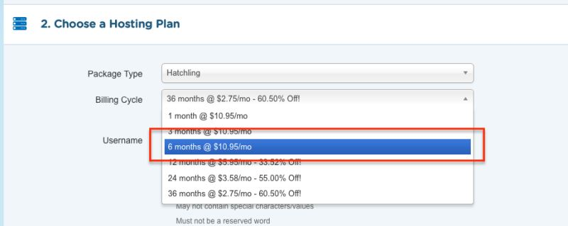 Hostgator short term plans