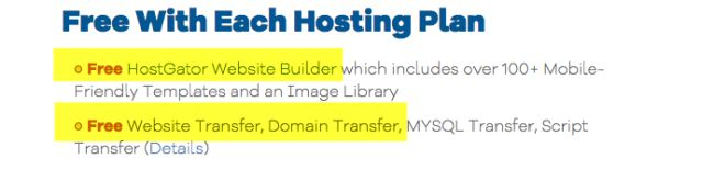 Hostgator website builder free