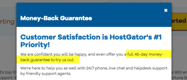 money back Hostgator