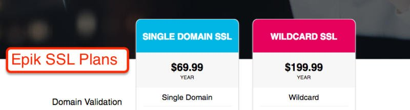 Epik SSL Plans
