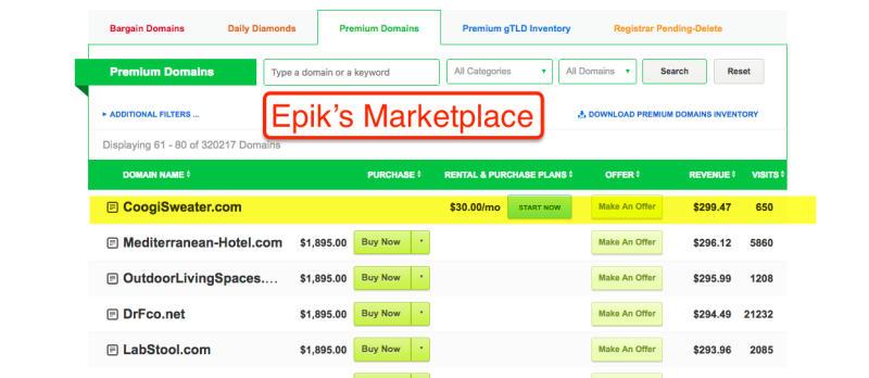 Epik's Marketplace