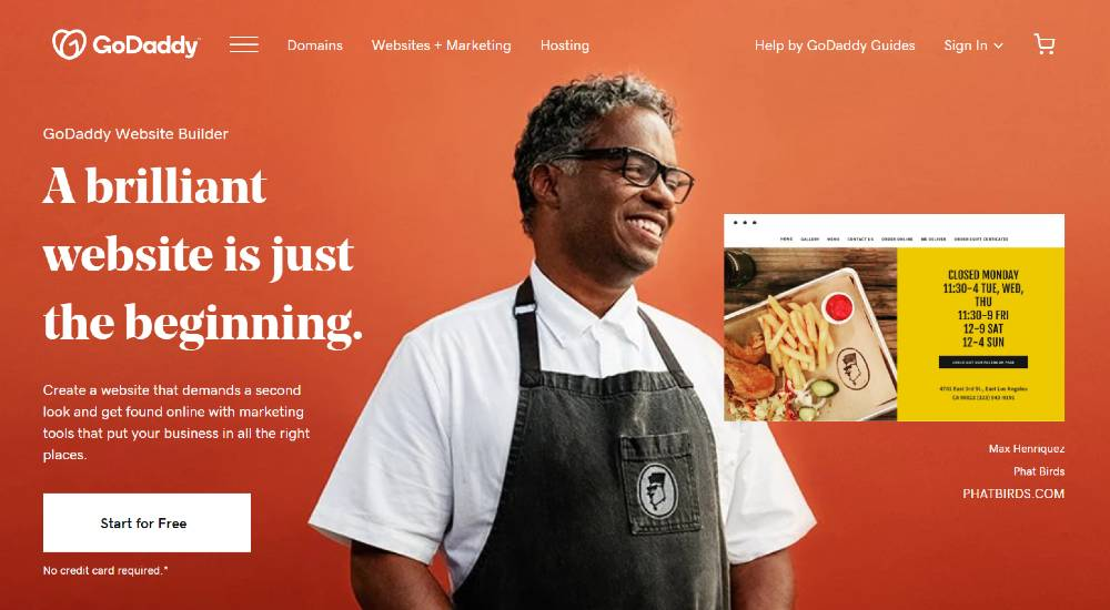 godaddy as squarespace alternatives
