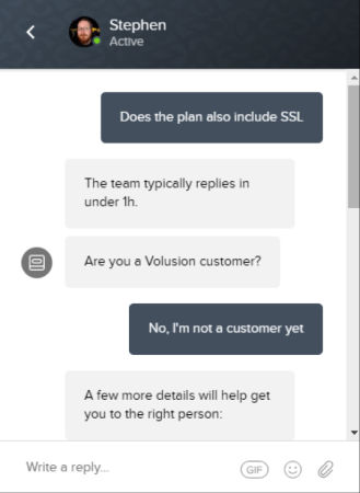 volusion chat 1 for squarespace