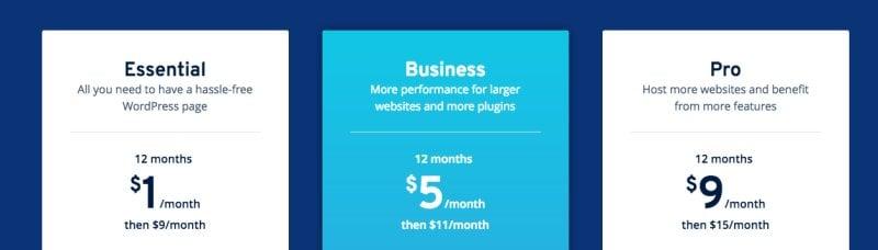 1&1 ionos WordPress plans