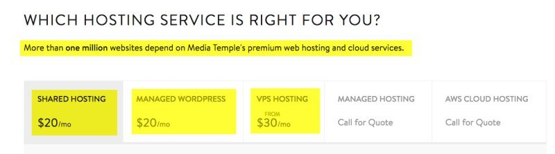 Media temple cons for pricing