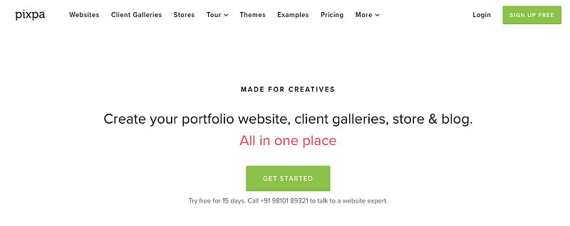 PIXPAA as Squarespace alternative