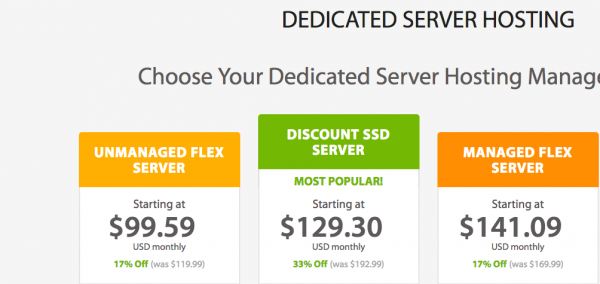 a2 hosting dedicated hosting plans