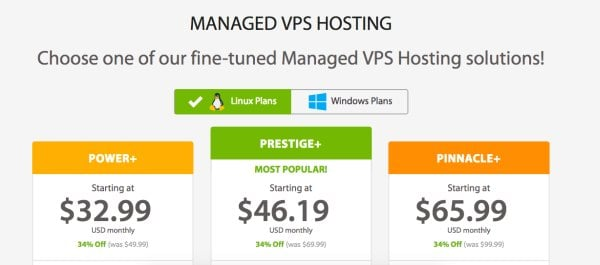 managed VPS hosting a2 hosting