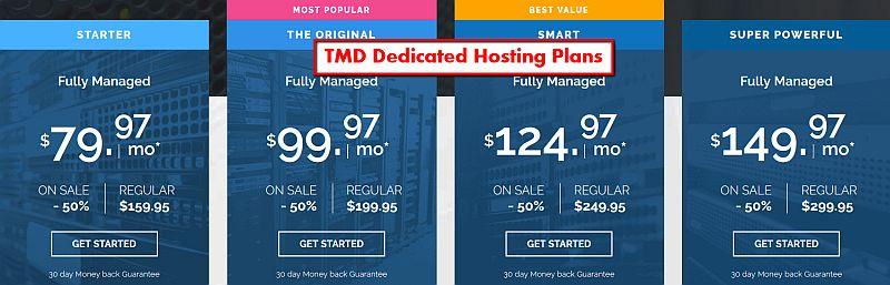 TMD Dedicated Hosting Plans