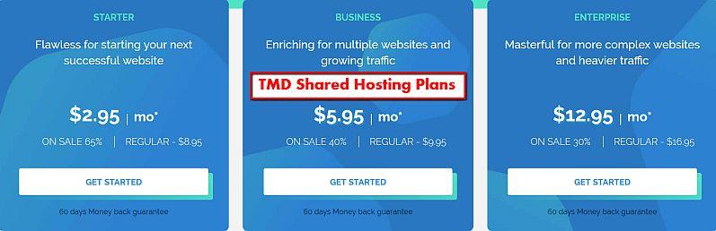 TMD Shared Hosting Plans