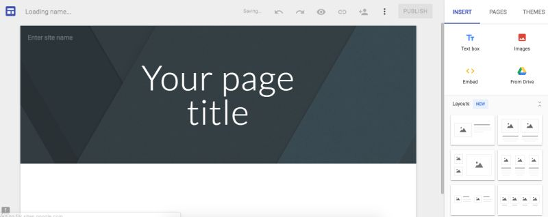 Google sites website builder