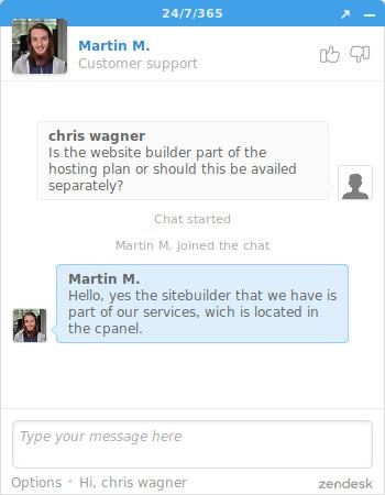 fastcomet sitebuilder chat