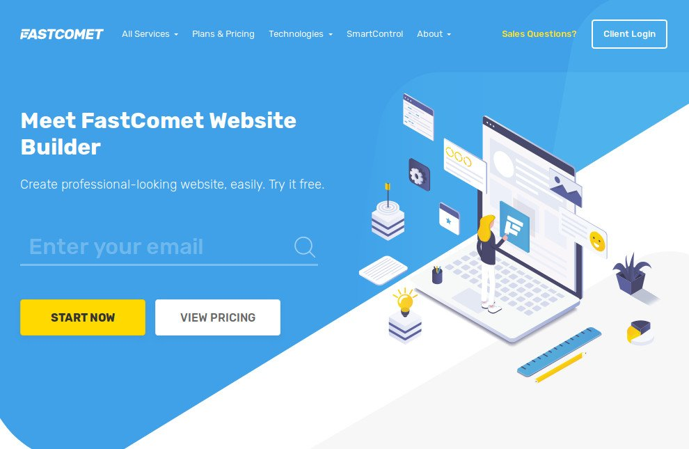 fastcomet website builder
