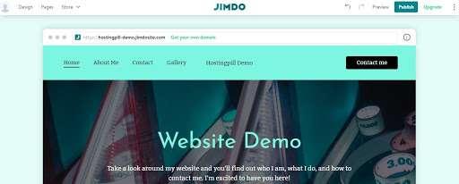 jimdo website demo