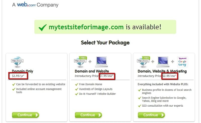 precio de register.com