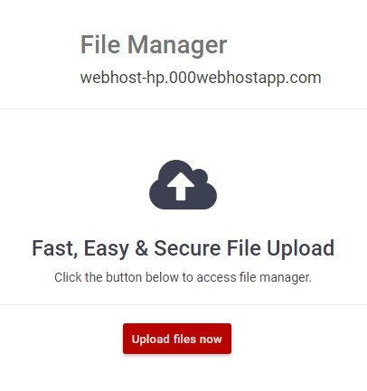 file manager 000webhost