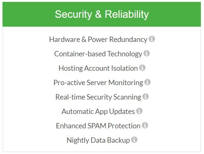 greengeeks security and reliability