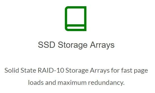 greengeeks ssd storage