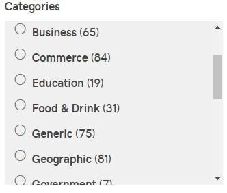 godaddy-categories