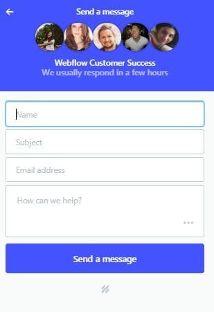 webflow-send-msg