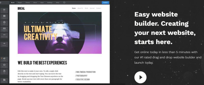 Lunarpages site builder