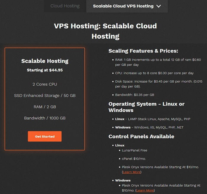 Scalable Cloud Hosting