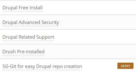 SiteGround Drupal features