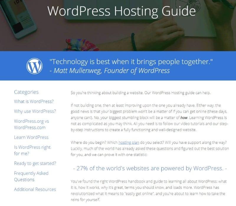 bluehost wordpress hosting guide