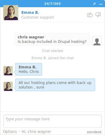 chat drupal fastcomet