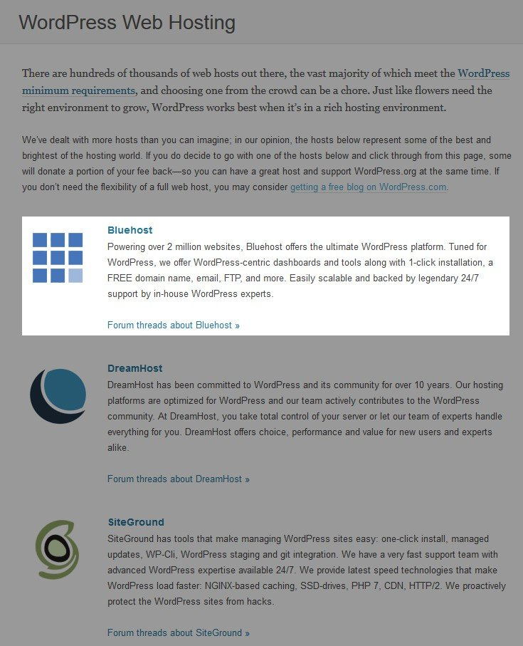 siteground wordpress rec