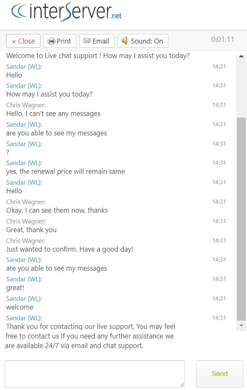 interserver chat