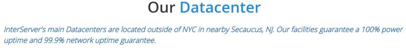 interserver datacenter uptime guarantee
