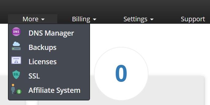 interserver login toolbar