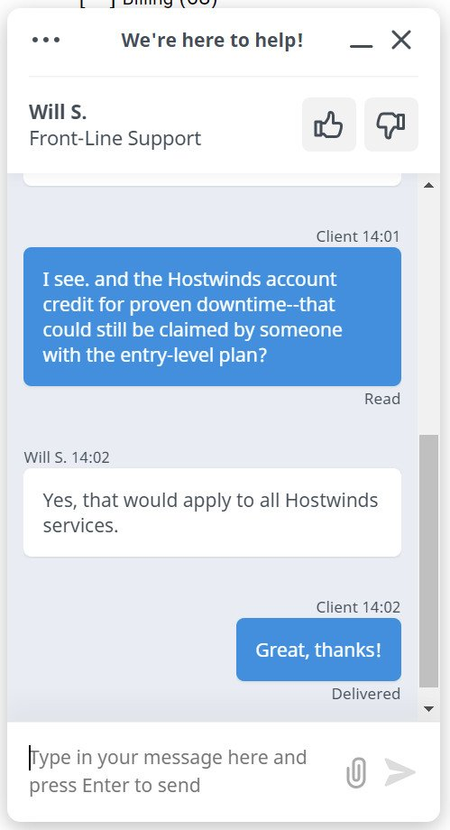 hostwinds chat