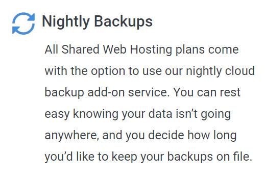 hostwinds shared backups