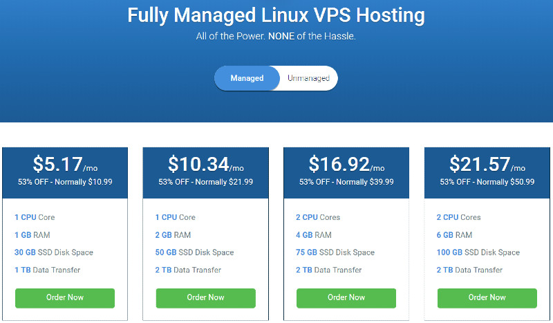 hostwinds vps linux managed