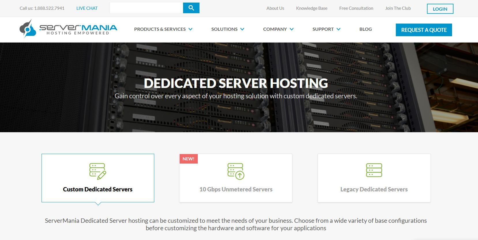ServerMania Dedicated Hosting