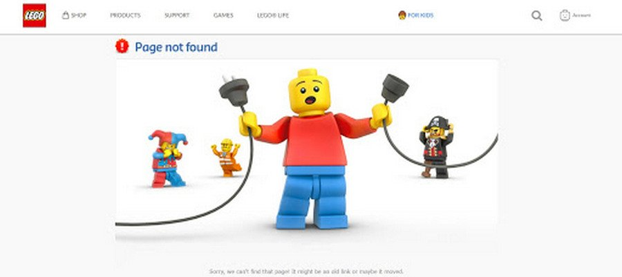lego page not found