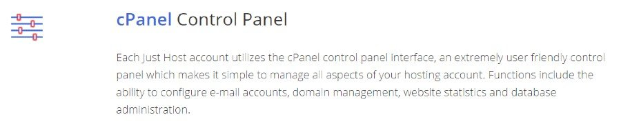 justhost cpanel