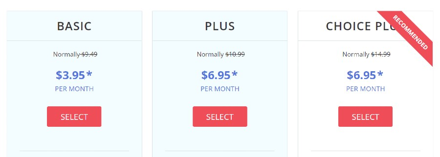 justhost shared prices
