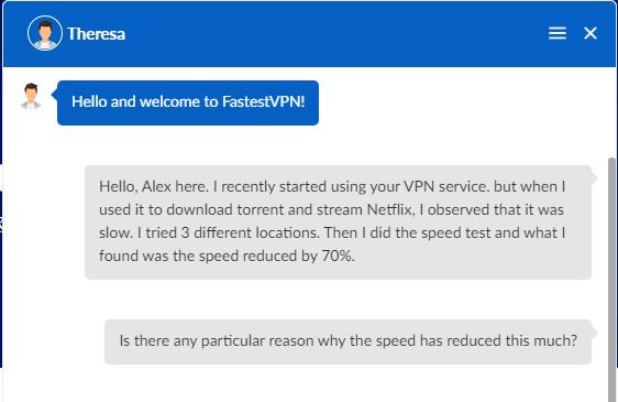 fastestvpn Customer support - 1