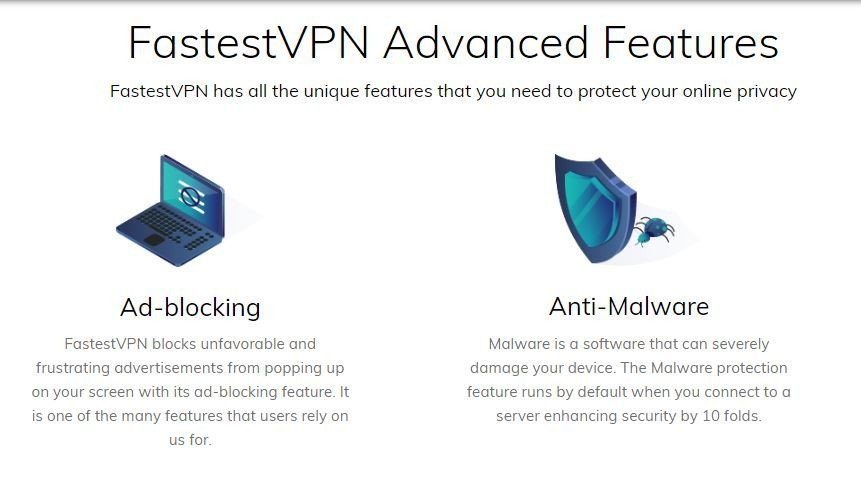 fastestvpn advanced features
