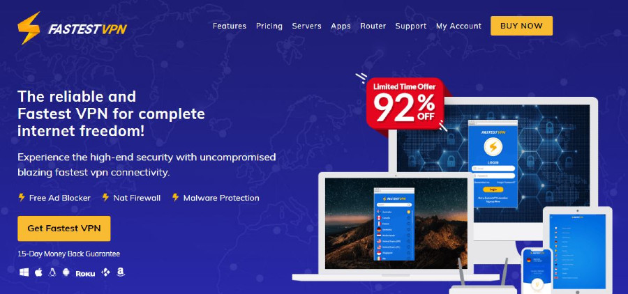 fastestvpn homepage