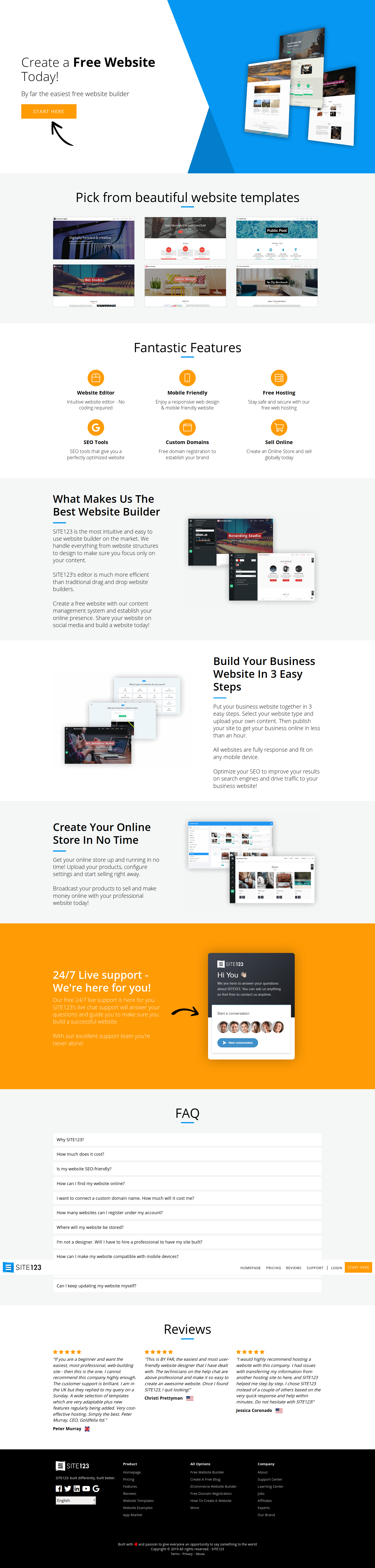 "10 Best"" Free Website Builders (Yes, Totally Free - No Payment)"