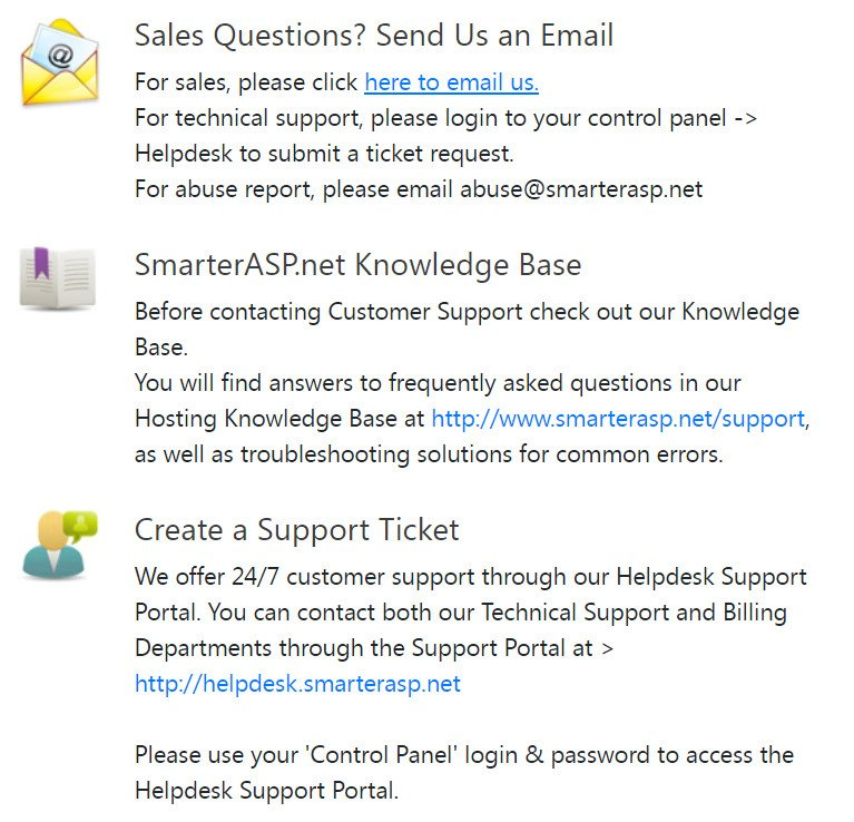 smarterasp support