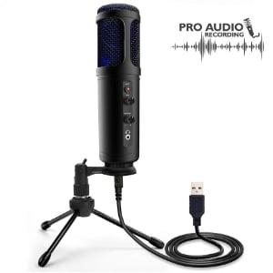 Micrófono portátil de audio profesional