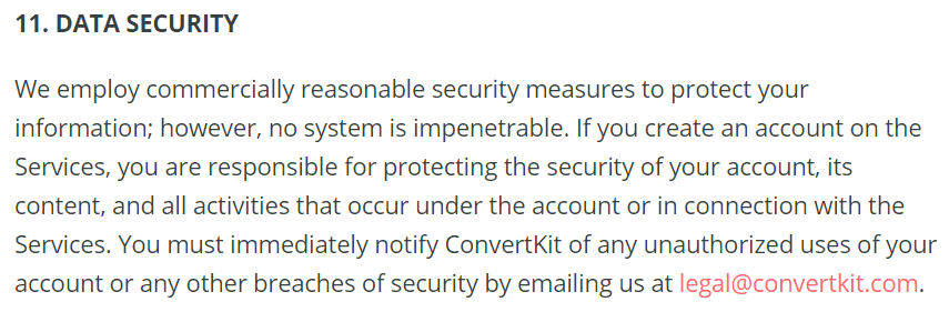 convertkit security