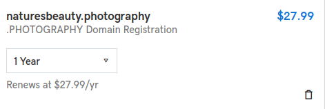 godaddy domain pricing